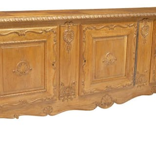 FRENCH LOUIS XV STYLE CARVED OAK SIDEBOARD SERVER