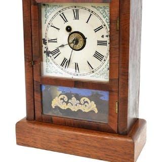 WATERBURY CLOCK CO. COTTAGE SHELF ALARM CLOCK