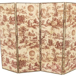 FRENCH BALLON DE GONESSE TOILE FOLDING SCREEN