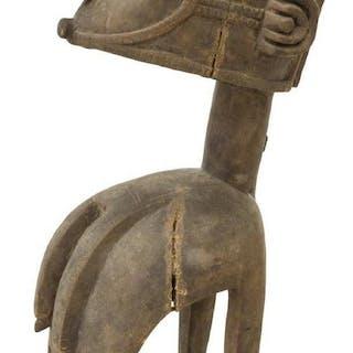 AFRICAN CARVED TRIBAL BIRD NIMBA SHOULDER MASK