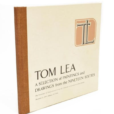 TOM LEA AUTOGRAPHED EXHIBITION ILLUSTRATED BOOK