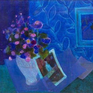 "GUSTAV LIKAN (1912-1998) HOMAGE TO DEGAS 31""x 37"""