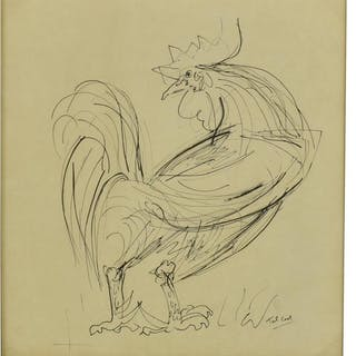 PIERRE TAL-COAT (1905-1985) PEN & INK DRAWING