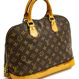 LOUIS VUITTON 'ALMA PM' MONOGRAM CANVAS HANDBAG
