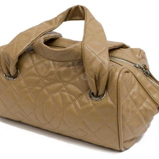 CHANEL 'BOSTON' QUILTED CAVIAR LEATHER HANDBAG