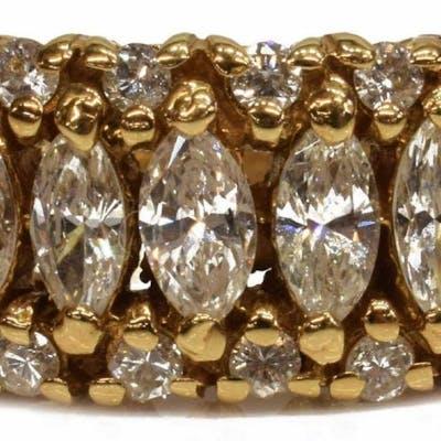 ESTATE 14KT YELLOW GOLD 1.75CTTW DIAMOND RING