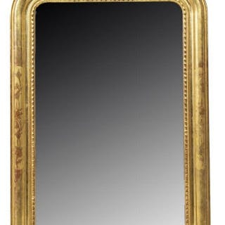 FRENCH LOUIS XV STYLE GILDED WALL MIRROR