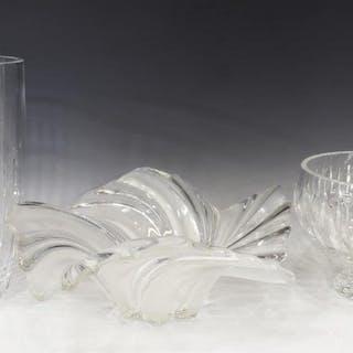 (3) MARQUIS WATERFORD CRYSTAL VASE & BOWL