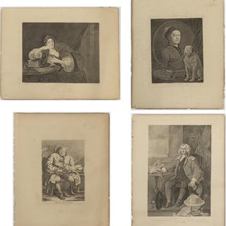 (4) PRINTS AFTER WILLIAM HOGARTH