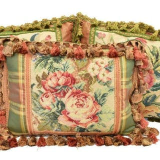 (3) COLLECTION OF FLORAL TAPESTRY THROW PILLOWS