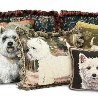 (6) COLLECTION OF DECORATIVE TAPESTRY PILLOWS