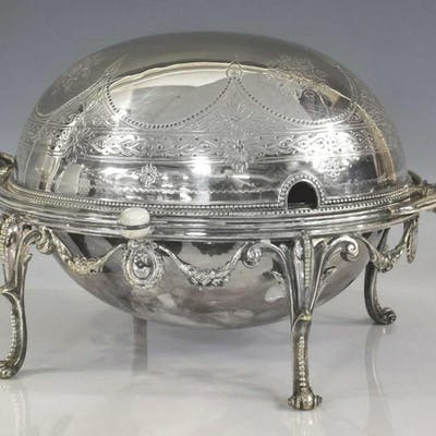 ENGLISH HENRY WILKINSON SILVERPLATE DOME WARMER