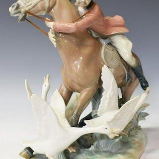 LLADRO PORCELAIN FIGURE ON HORSEBACK