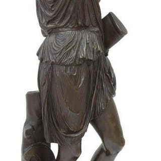 FRENCH NEOCLASSICAL BRONZE AMAZON, F. BARBEDIENNE