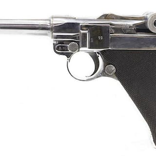 1917 LUGER 9MM PISTOL & HOLSTER, ALL SN MATCHED