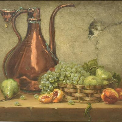 MARK PETTIT (TX, B.1957) STILL LIFE OIL PAINTING