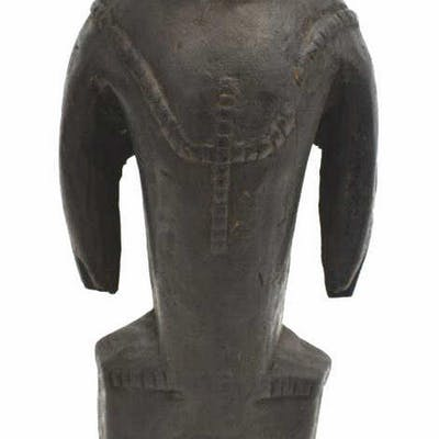 AFRICAN GABON WOOD STANDING TRIBAL FIGURE