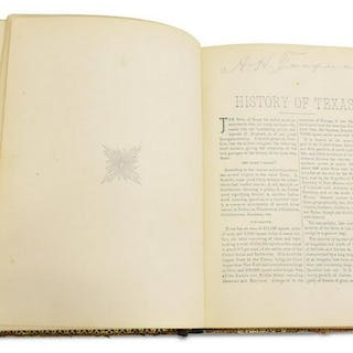 """BOOK: """"THE LONE STAR STATE"""", LEATHER, 1895"""