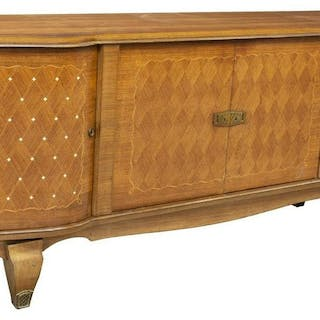 FRENCH ART DECO FRUITWOOD SIDEBOARD