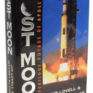 "SIGNED BOOK ""LOST MOON"" JIM LOVELL, APOLLO 13"
