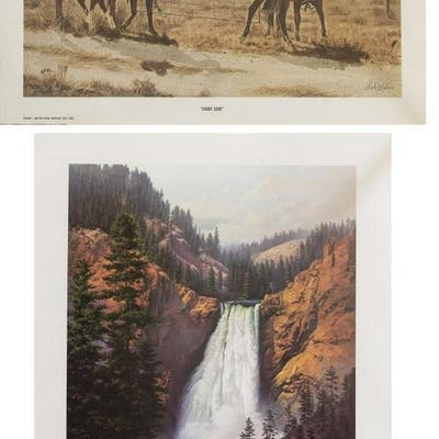 (10) WESTERN PRINTS ON PAPER, VARIOUS ARTISTS