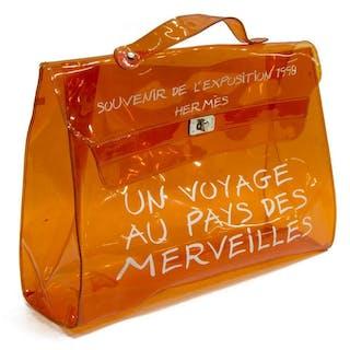 LIMITED EDITION HERMES 'KELLY' SOUVENIR VINYL BAG