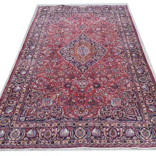 "HAND-TIED PERSIAN KASHMIR RUG SIGNED, 15'6"" X 9'2"""