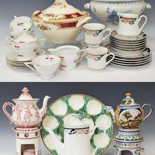 (34) DECORATIVE TABLEWARE, TEA SETS, TUREENS