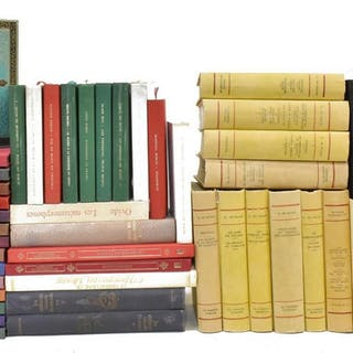(55) FRENCH LIBRARY SHELF BOOKS