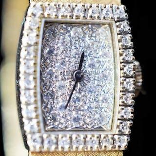 LONGINES 14K GOLD & DIAMOND LADIES WRIST WATCH