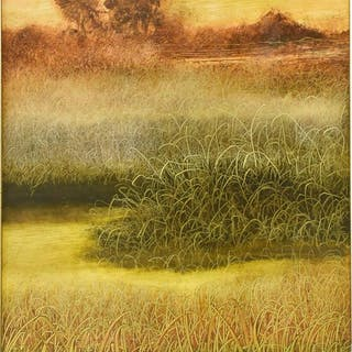 NORMAN FOSTER (1921-2009) LANDSCAPE OIL PAINTING