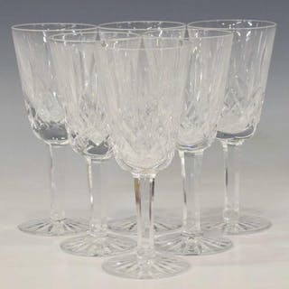 (6) WATERFORD 'LISMORE' CUT CRYSTAL SHERRY GLASSES