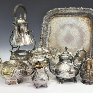 (7) COLLECTION SILVER PLATE TABLE SERVICE ITEMS