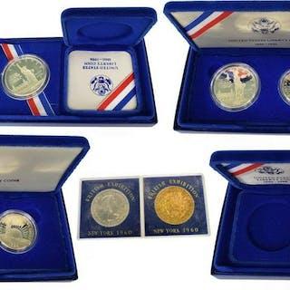 (8) U.S. PROOF COINS, ELLIS, LIBERTY & BRITISH