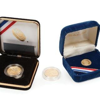 Three American Commemorative Gold Coins
