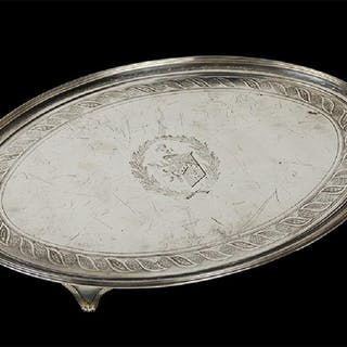 A George III English Silver Salver.
