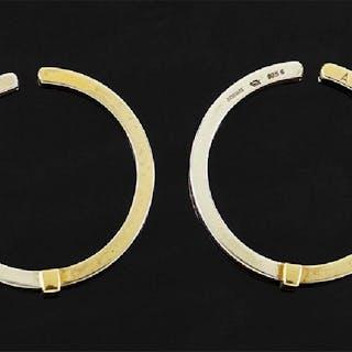 A Pair of Georg Jensen Hoop Earrings.