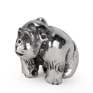 A Buccellati Sterling Silver Gorilla.
