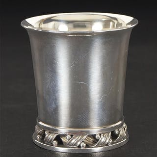 A Set of Four Georg Jensen Sterling Silver Beakers.