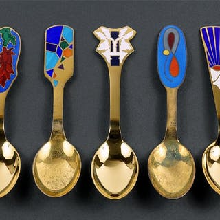 A Collection of Anton Michelsen Sterling Silver