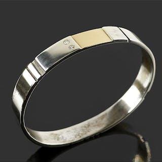 A Georg Jensen Sterling Silver Bangle Bracelet.
