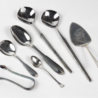 A Collection of Hans Hansen Sterling Silver Utensils.