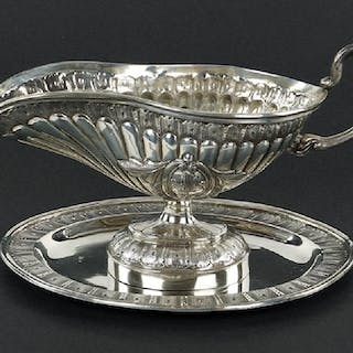 A Continental Silver Sauce Boat.