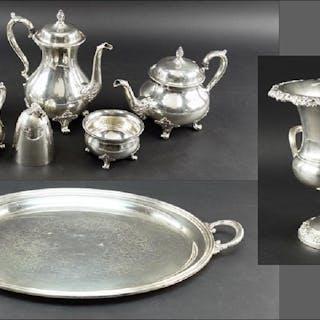 A Wilcox Silverplate Tea and Coffee Service.
