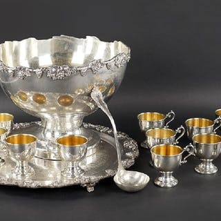 A Silverplate Punch Service.
