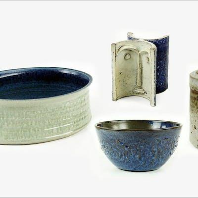 Four American Glazed Ceramic Items.