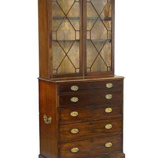 An English 18th Century Mahogany Secretary Bookcase.