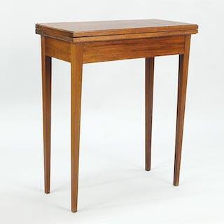 A Hepplewhite Birch Console Table.