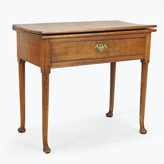 A 19th Century Queen Anne Style Walnut Console Table.