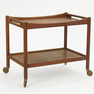 A Hans Wegner Teak Bar Cart.